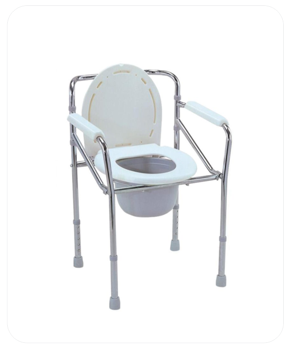 Folding Commode-Chrome Steel (B.A. 1)