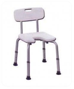 Shower Chair And Height Adjustable Legs