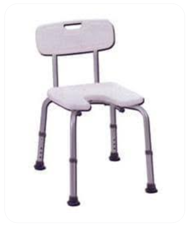 Shower Chair And Height Adjustable Legs (B.A. 26)