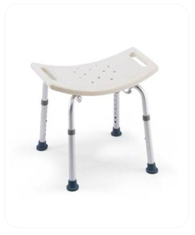 Shower Seat With Height Adjustable Legs (B.A. 21)