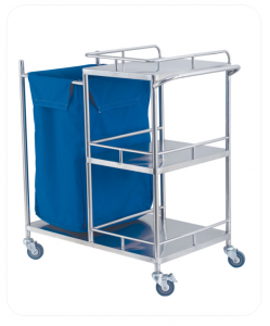 Stainless Steel Cart For Making Up Bed Nursing