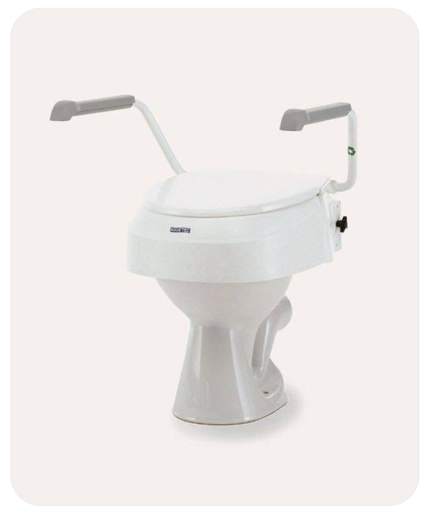 Toilet Seat Raiser With Removable Arms (B.A. 23)